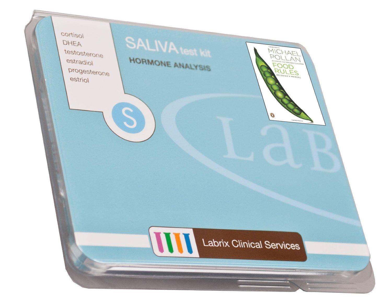 Female/Male Saliva Profile - Test Kit For 8 Hormone Level Imbalances (E2, Pg, T, DHEA, & CORTISOL x 4) - Includes Pre-Paid Sample Return Shipping (Bonus: FREE BOOK)