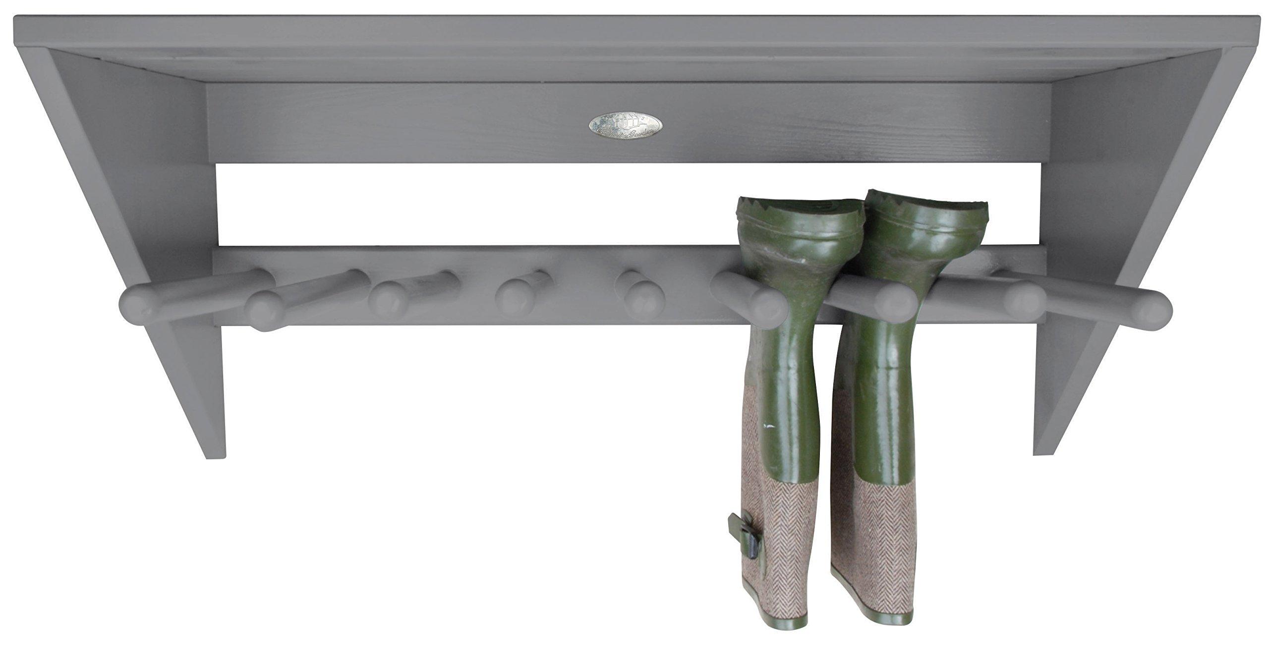 Esschert Design Wall Boot Rack, Gray