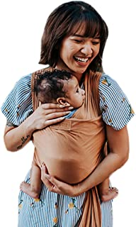 product image for Tuck and Bundle Ezra Baby Wrap - Lightweight Baby Carrier - Sandstone - Best Baby Wrap for Newborns 0-15 Months - Comfortable, Simple, and Hands-Free Babywearing Wraps Made of 100% Micromodal