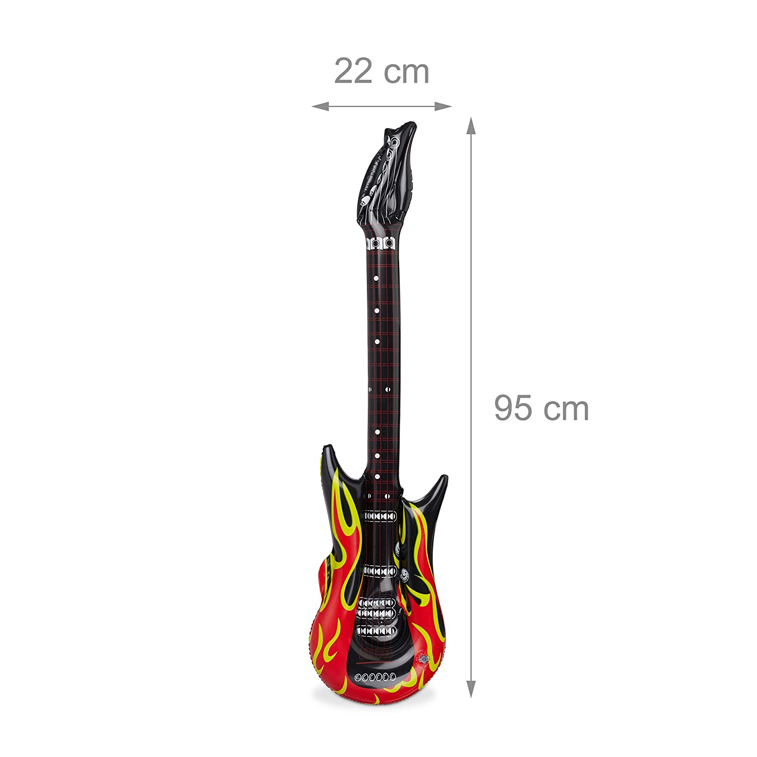 Relaxdays Guitarra Hinchable Rock, Color rojo/negro 95 cm 10024257: Amazon.es: Juguetes y juegos