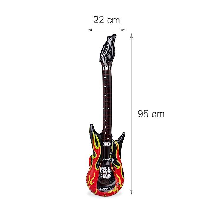 Relaxdays Guitarra Hinchable Rock, Color rojo/negro 95 cm 10024257: Amazon.es: Juguetes y juegos