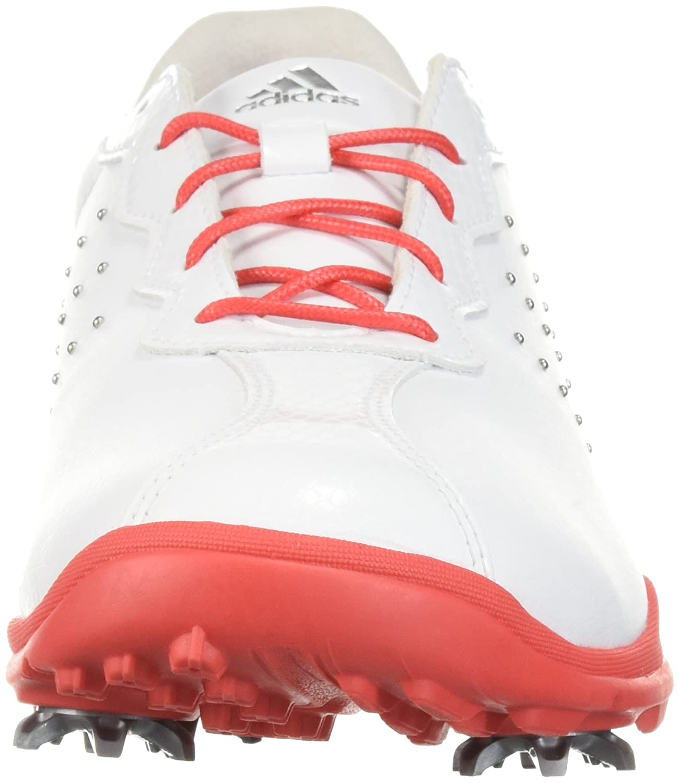 adidas Women's W Adipure DC Golf Shoe B071FHYRBL 5.5 B(M) US Ftwr White/Real Coral/Silver Met.