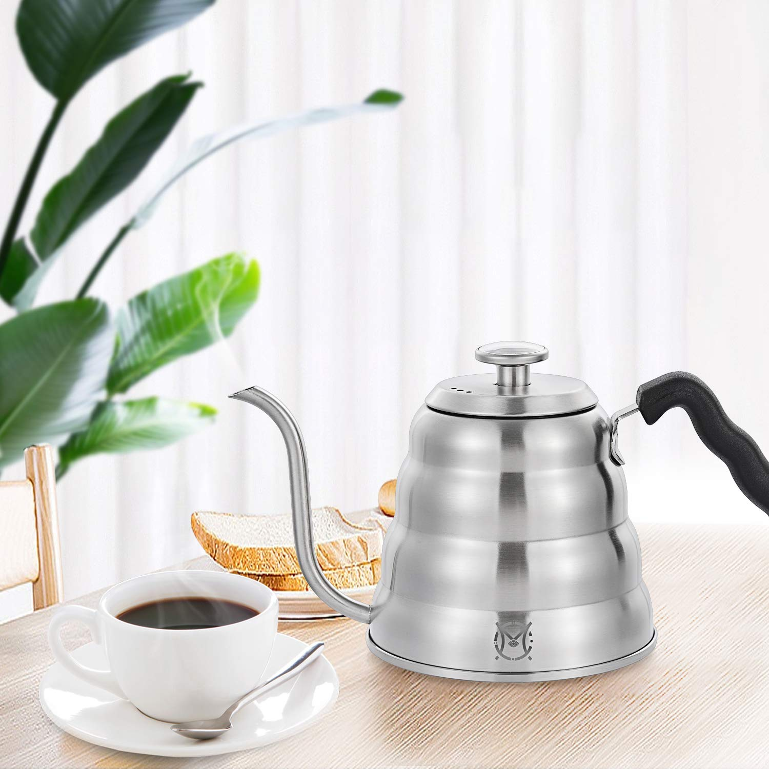 Magicafé Pour Over Coffee Kettle - Stainless Steel Gooseneck with Built In Thermometer for Exact Temperature - 40OZ 1.2 Liter 1200ML by MAGICAFÉ (Image #7)