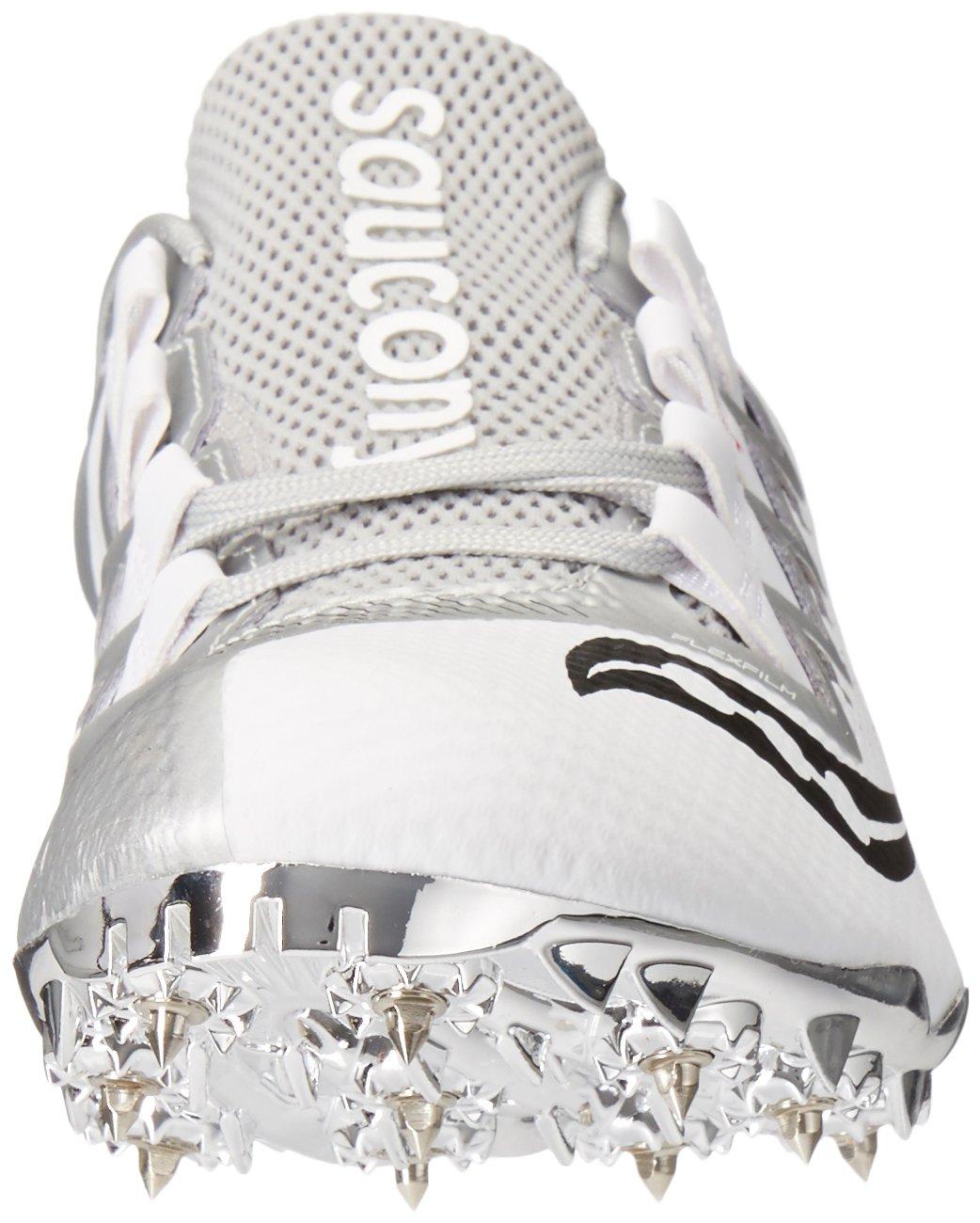 Saucony Women's Showdown 4 Track Shoe White/Silver 10 M US by Saucony (Image #4)