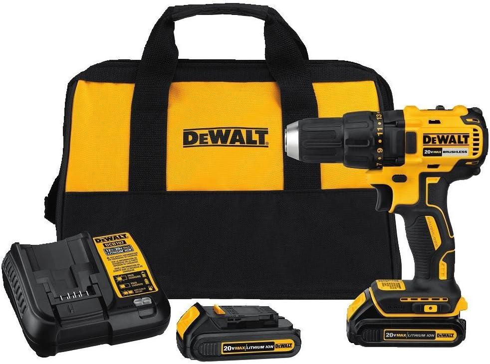 Amazon Com Dewalt 20v Max Cordless Drill Driver Kit Compact Brushless Dcd777c2 Home Improvement