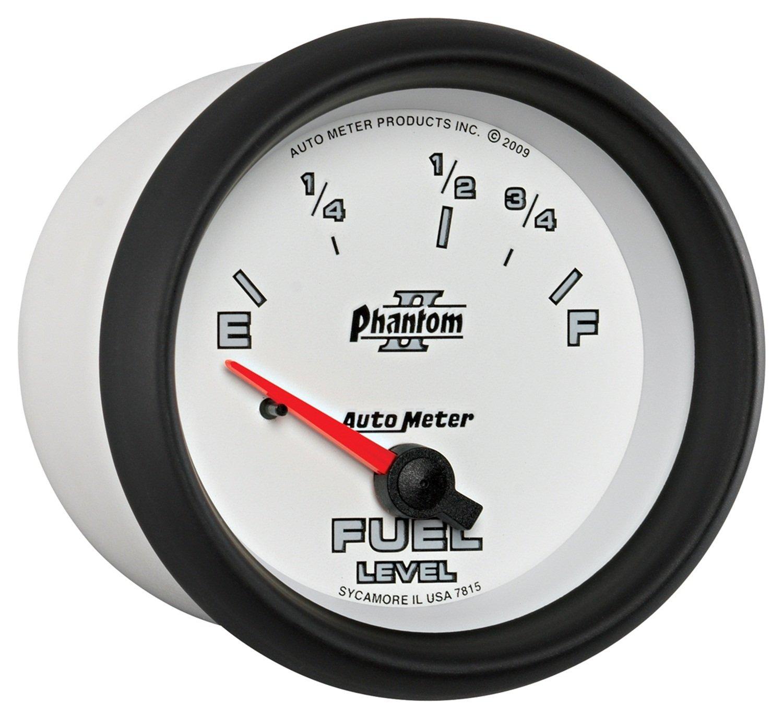 Auto Meter 7815 Phantom II 2-5//8 73 E// 10 F Short Sweep Electric Fuel Level Gauge
