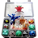 Bakugan Toy All Different + 9 Metal Cards with Bakucase for Great Gift and Collection