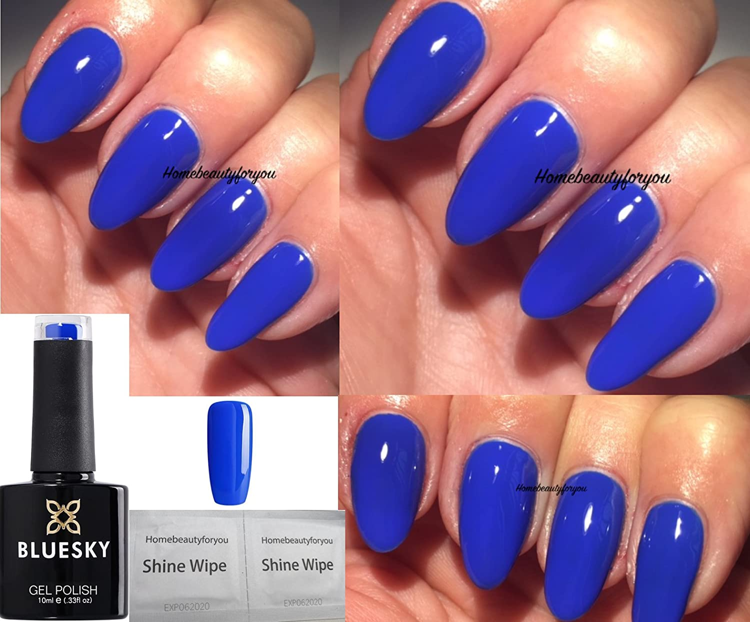 Bluesky Neon Royal Blue Cobalt Bamboo Neon 32 Nail Gel Polish UV LED ...