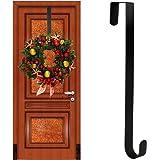 front door wreath hangerAmazoncom Sterling Metal Wreath Hanger 12 L Black Home  Kitchen