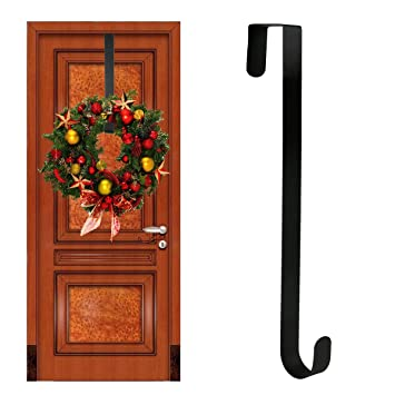 Wreath Hanger Over The Door   Larger Wreath Metal Hook For Christmas Wreath  Front Door Hanger