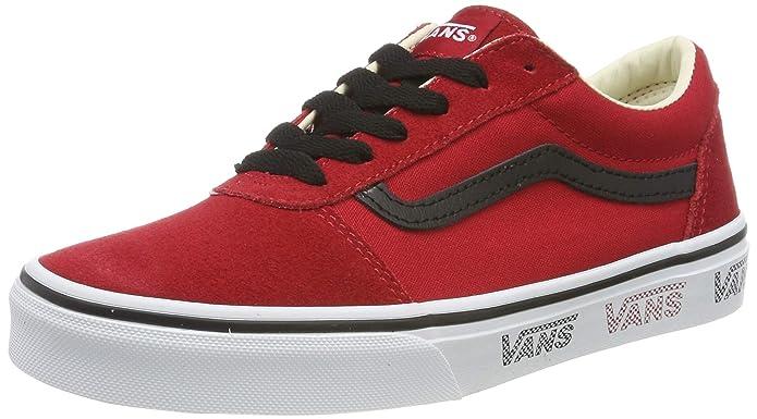 Vans Ward Sneakers Suede/Canvas Unisex-Kinder Rot (Vans Sidewall) Tango Red