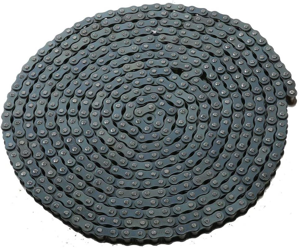 TOPENS LT08B Roller Chain 20 Feet with 2 Connecting Links for Chain Driven Sliding Gate Opener for Replacement and Extension 08B Metric Standard 428#