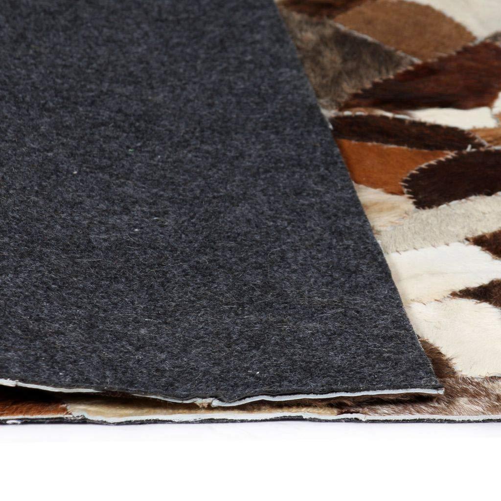 Schlafzimmer Zora Walter Kuhfell Teppich Echtes Leder Patchwork 120 x 170 cm Braun Weib Modernes Rutschfeste Unterseite Waschbar Teppich for Wohnzimmer