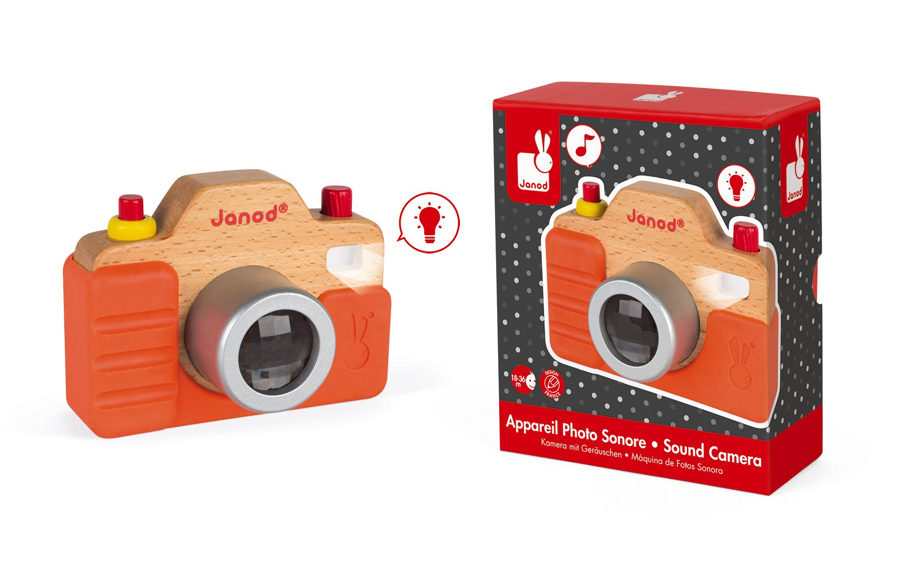 Janod Wooden Interactive Sound Camera Toy by Janod (Image #3)