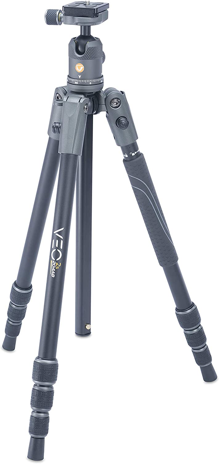 Smart Phone Holder and Bluetooth Remote Monopod Option Vanguard VEO3GO265HCB Compact Carbon Fiber Travel Tripod with Ball Head