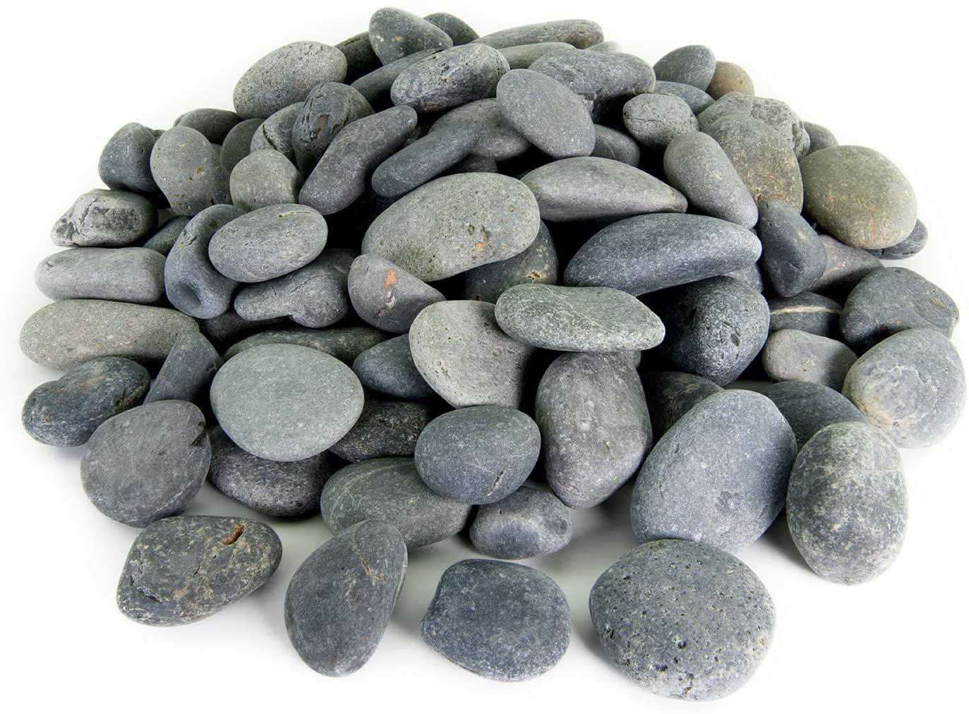 Amazon Com Mexican Beach Pebbles 20 Pounds Of Smooth Unpolished Stones Hand Picked Premium Pebbles For Garden And Landscape Design Black 3 Inch 5 Inch Garden Outdoor