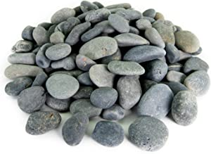 Mexican Beach Pebbles | 40 Pounds of Smooth Unpolished Stones | Hand-Picked, Premium Pebbles for Garden and Landscape Design | Black, 1/2 Inch - 1 Inch