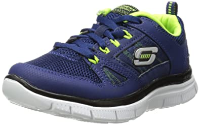 skechers shoes for boys. skechers flex advantage, boys\u0027 indoor court shoes, blue (navy/yellow) shoes for boys e