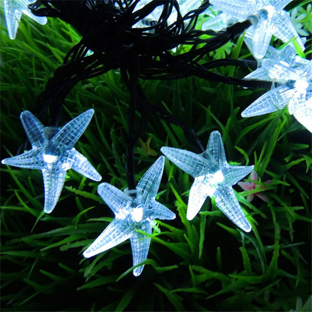 Starfish String Lights,Businda 30LEDs Fairy String Lights for Indoor & Outdoor Holiday Decorations (White) by Businda (Image #5)