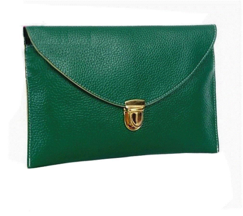 Gaorui Women lady Envelope Clutch Shoulder Chain Evening Handbag Tote Bag Purse_Green