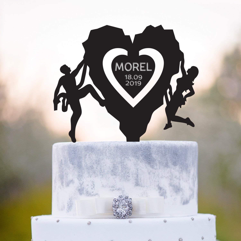 Escalada de la torta Topper de la escalada de la boda de la ...