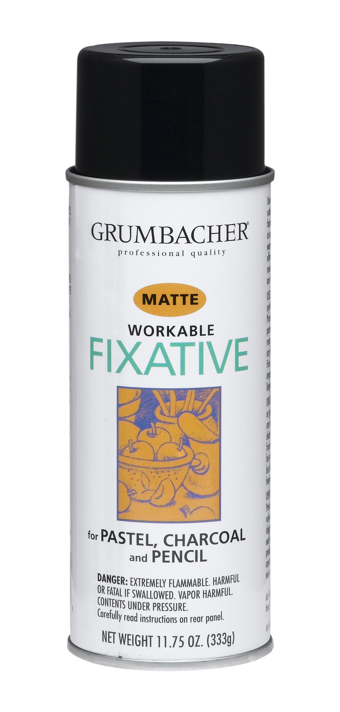 GRUMBACHER 546 11-3/4-Ounce Workable Fixative Spray, 11-3/4-Ounce Can by GRUMBACHER