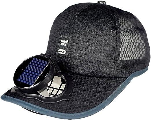 Ventilador Solar Gorra De Béisbol De Refrigeración USB De Carga Al ...
