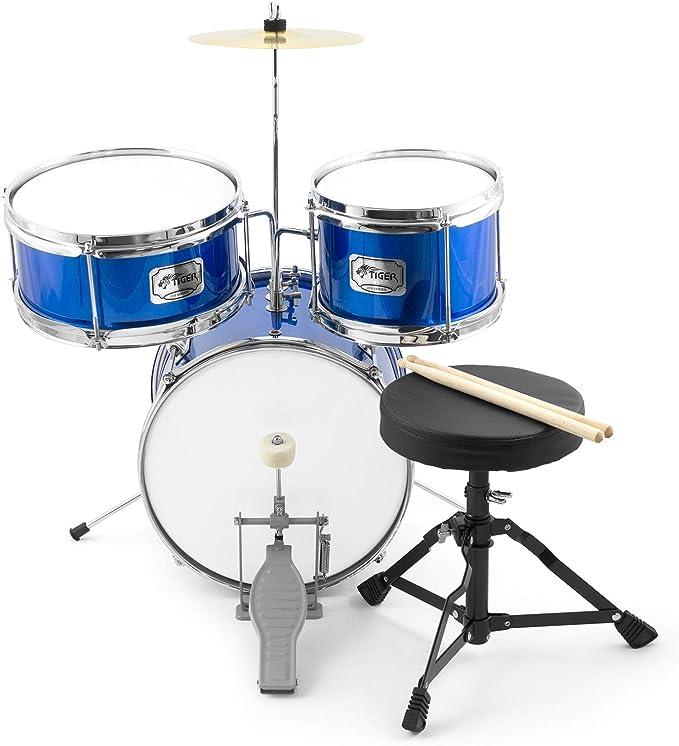 Tiger JDS7-BL - Batería de 3 piezas, color azul: Amazon.es: Instrumentos musicales