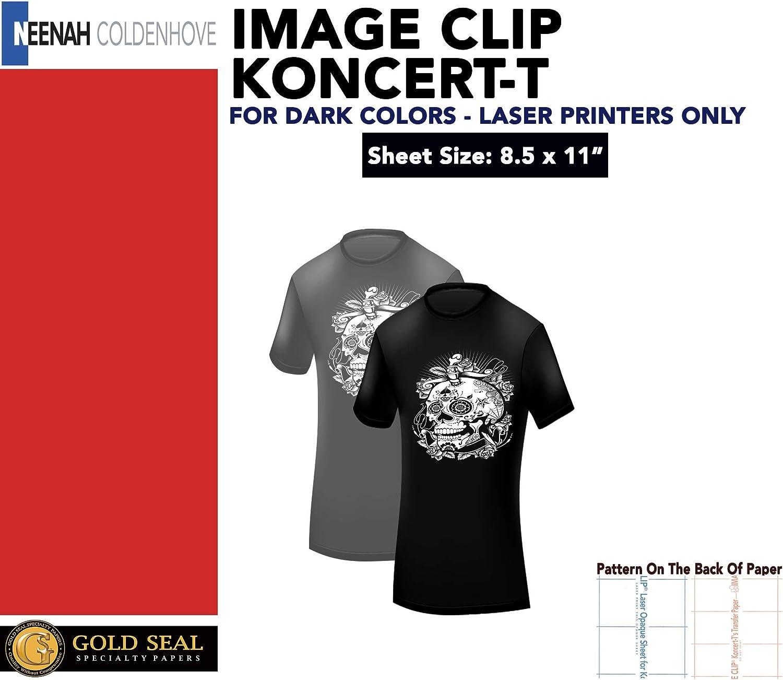 Image Clip Laser Dark Self-Weeding Heat Transfer Paper 8.5 x 11-5 Sheets