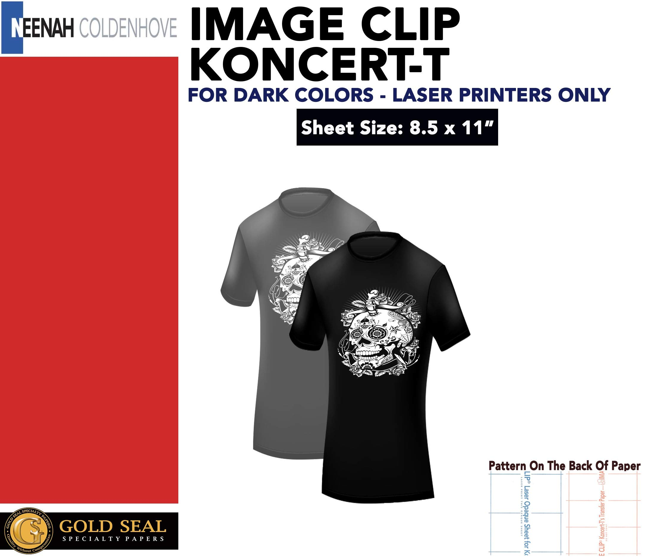 LASER TRANSFER FOR DARK FABRIC: ''IMAGE CLIP KONCERT-T's'' (8.5''X11'') 25pk :) by Neenah