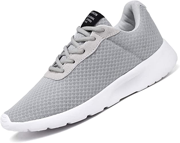 MENS LIGHTWEIGHT LACE UP GYM RUNNING TEXTILE COMFORT SPORT TRAINERS SHOES SIZE