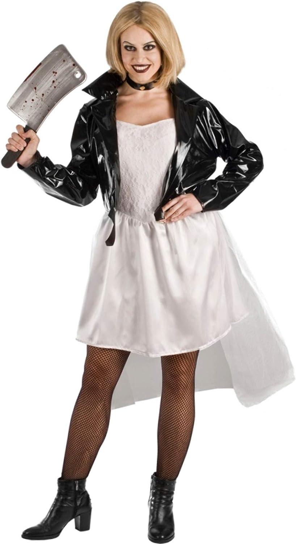 EL REY DEL CARNAVAL, SL Disfraz de la Novia de Chucky para Mujer ...