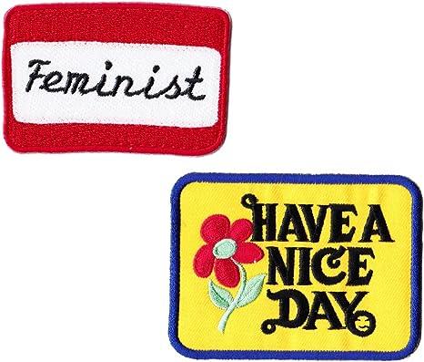 Feministas parche Pack Quote parches hierro en parches apliques para ropa infantil: Amazon.es: Juguetes y juegos