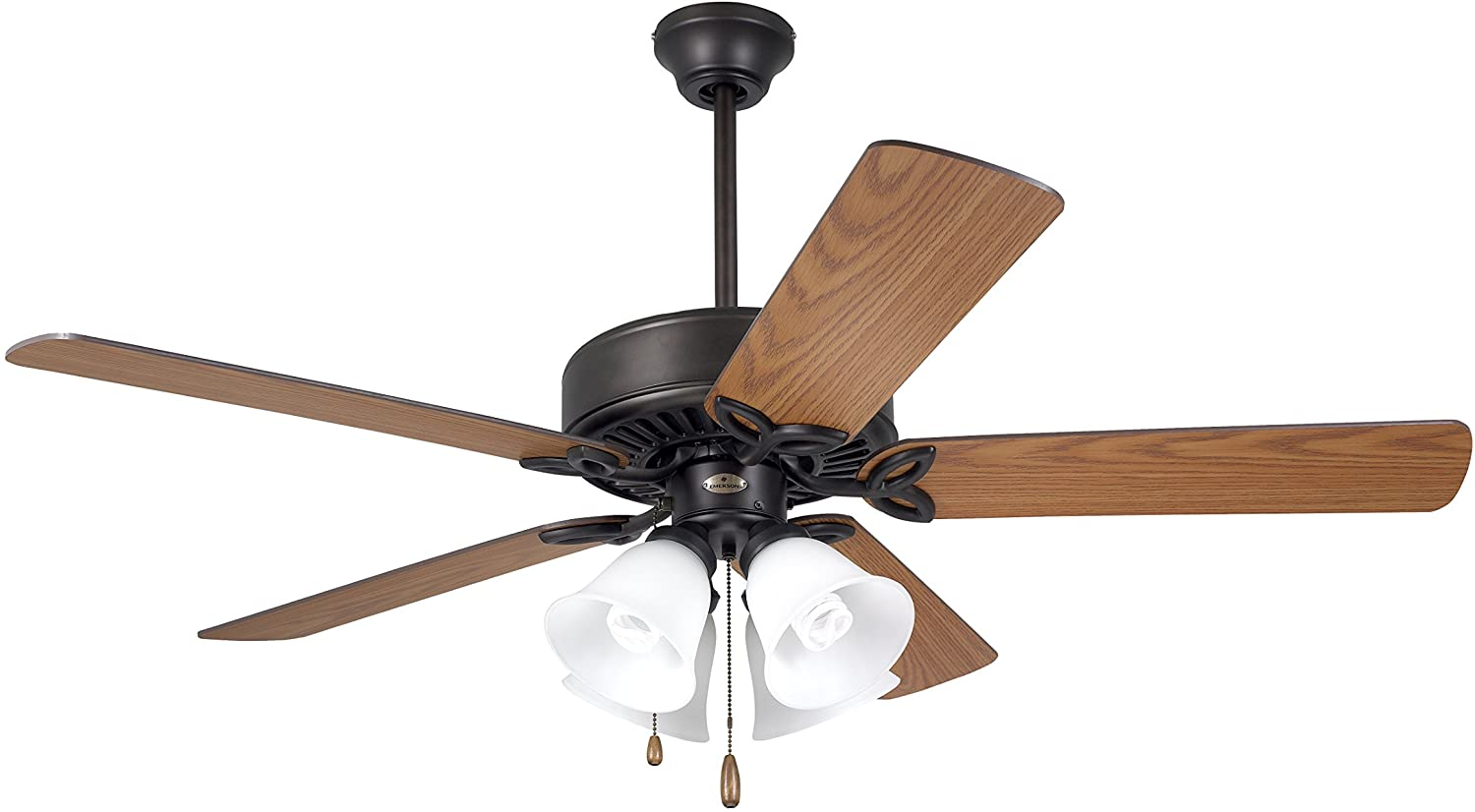 Oil Rubbed Bronze Finish 50-Inch Blades Emerson Ceiling Fans CF711ORS Pro Series II Indoor Ceiling Fan with Light
