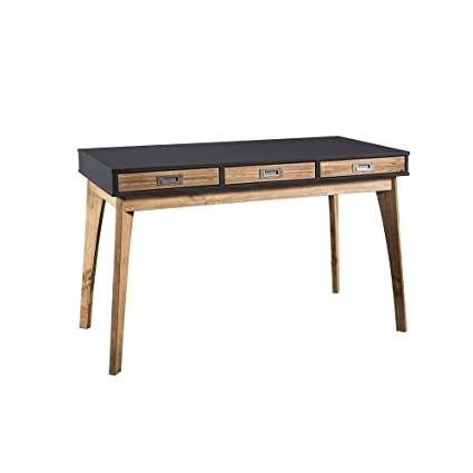Beau Amazon.com: Manhattan Comfort CS96209 Jackie Rustic Modern Office Desk Dark  Grey: Kitchen U0026 Dining