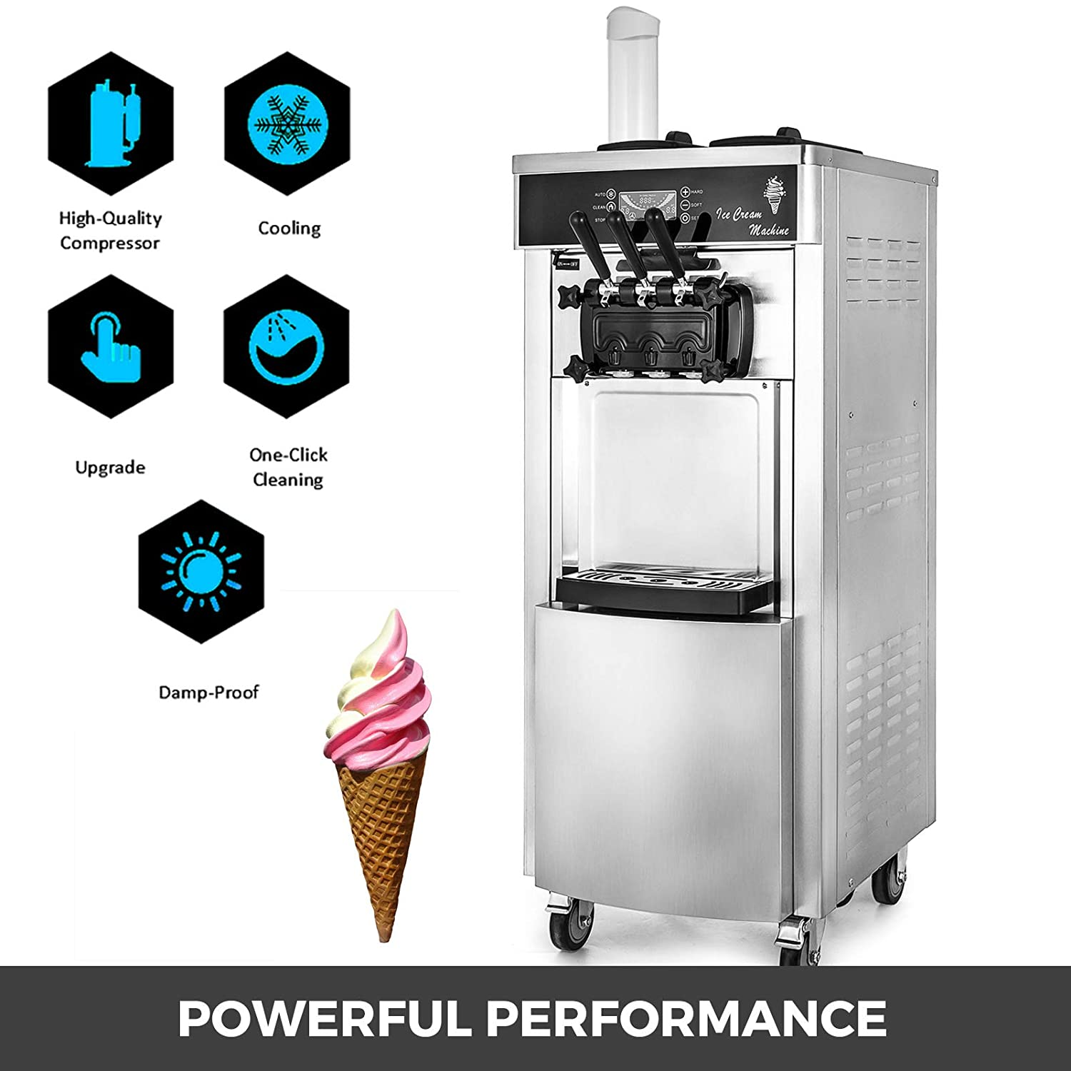Home Appliances White Color Hexagram Star Modelling Caps Of Ice Cream Machine Spare Part Accessories Wide Varieties