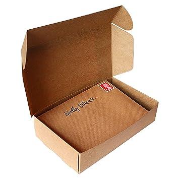 Kurtzy Cajas Cartón Pack de 10 - Kraft Marrón Decorativo Presentación Cajas - Gran Set Cajas