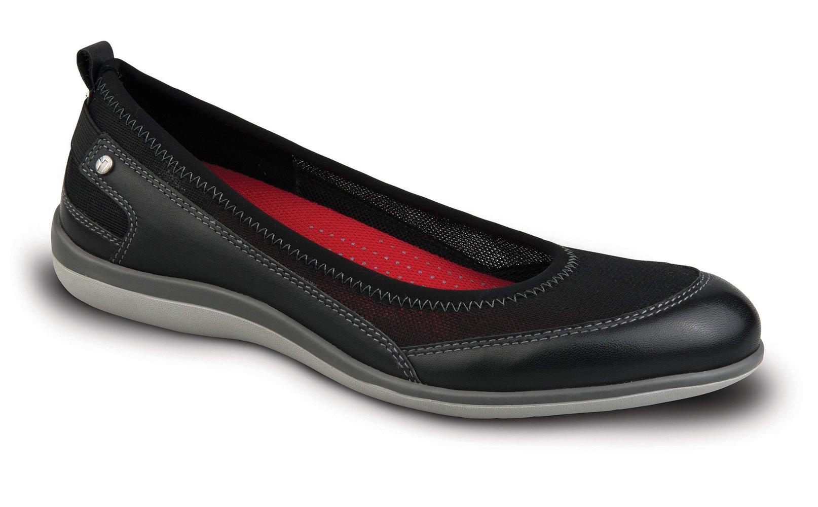 Revere Verona Women's Comfort Shoe with Removable Foot Bed: Black 10 Medium (B) Slip on