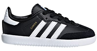 fb922064d90b adidas Originals Kids Unisex Samba OG EL I (Toddler) Black White 4 M