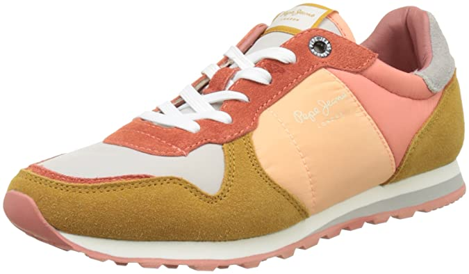 London, Sneakers Basses Femme, Multicolore (Light Sunset), 38 (EU)Pepe Jeans London