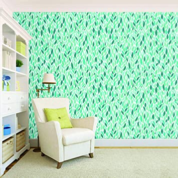 Buy 100yellow Leaf Design Printed Peel And Stick Self Adhesive Wallpaper Multicolour 44 Sqft Vinyl Online At Low Prices In India Amazon In