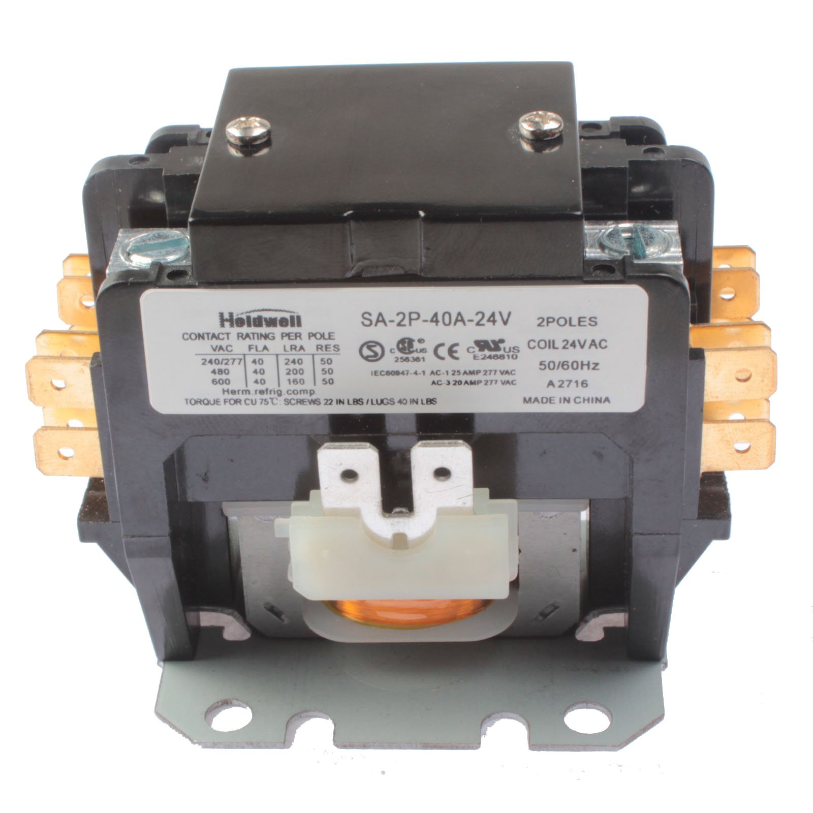 Best Rated In Motor Contactors Helpful Customer Reviews Working Of Holdwell Sa 2p 40a 24v 2 Pole 40 Amp Coil Definite Purpose
