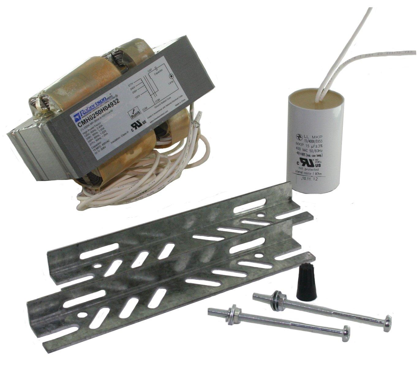 ROBERTSON 3P10065 Individual mHID, CWA, 250 Watt, M58 Metal Halide Lamp, 120/208/240/277Vac, 60Hz, Normal Ballast Factor, HPF, Model CMH0250H04932 M (Replaces CMH0250H04932)