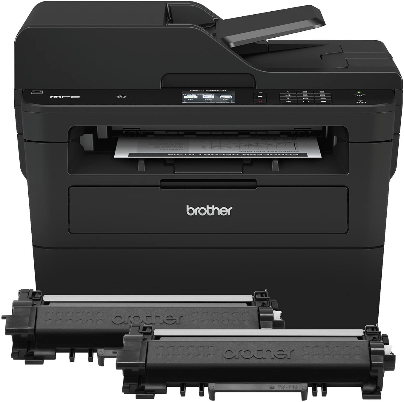 Brother Compact Monochrome Laser All-in-One Multi-function Printer, MFCL2750DWXL, Up to Two Years of Printing Included, Amazon Dash Replenishment Ready