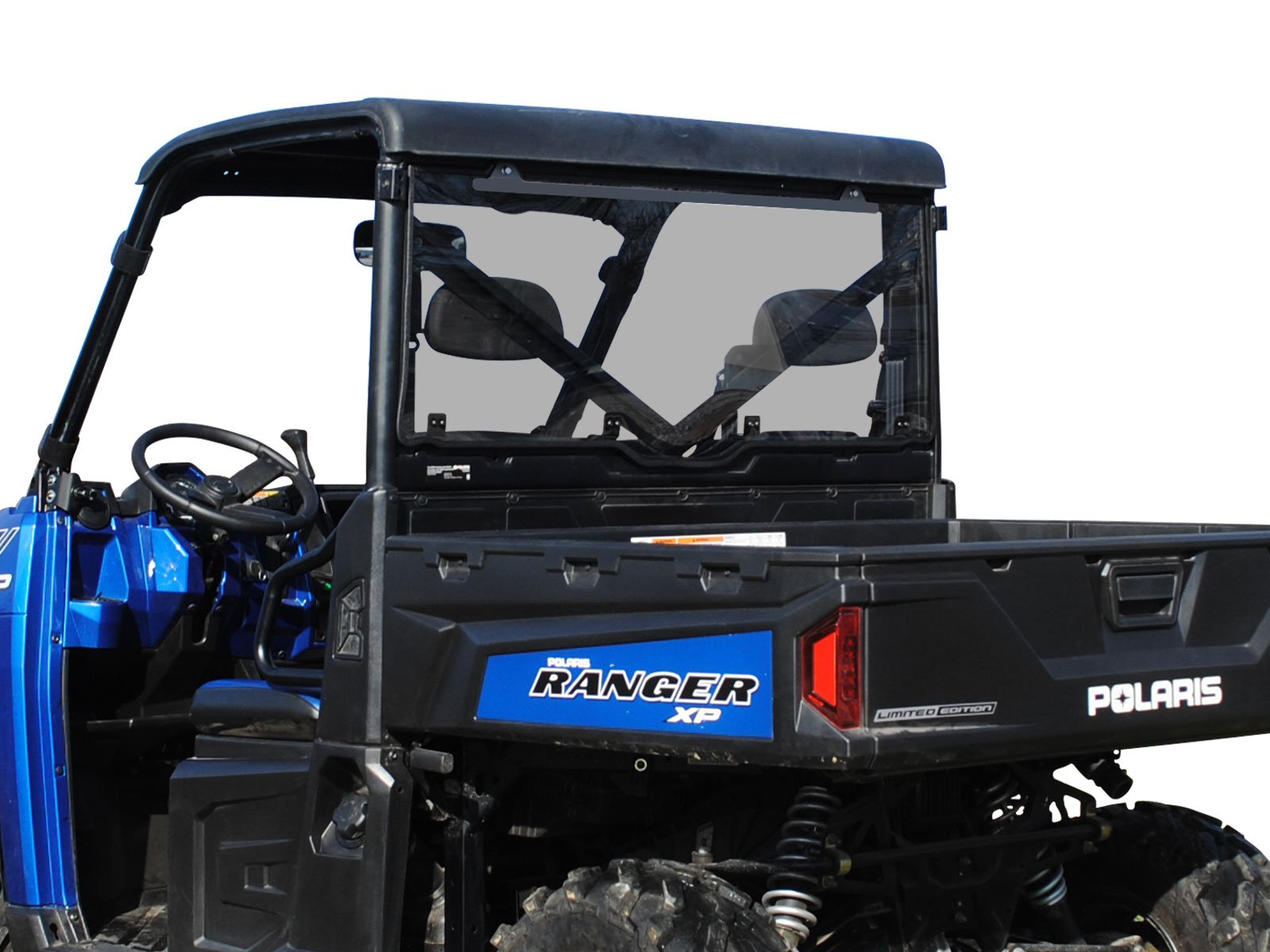 SuperATV Lightly Tinted Scratch Resistant Polycarbonate Rear Windshield for Polaris Ranger XP 900 / XP 900 Crew (2013+) - Easy to Install!