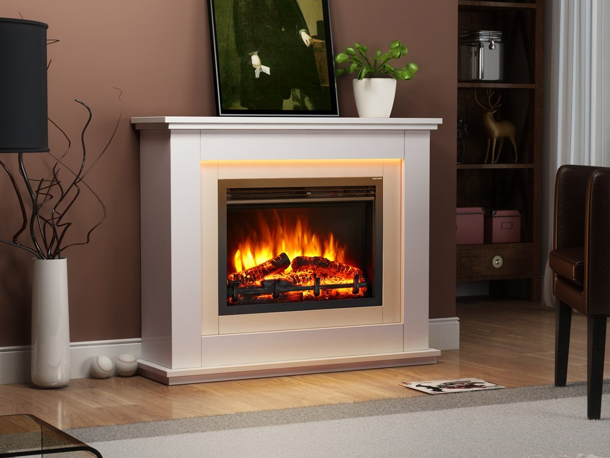 Endeavour Fires Castleton Electric Fireplace Suite: Amazon.co.uk: Kitchen &  Home