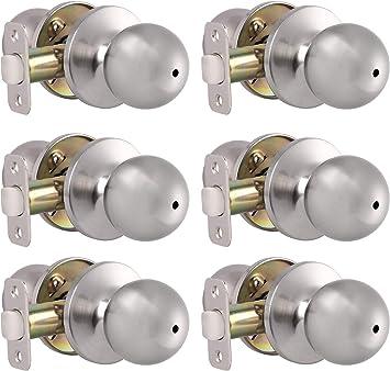 or Bathroom In Satin Nickel Round Privacy Door Knob Ball Lockset For Bedroom
