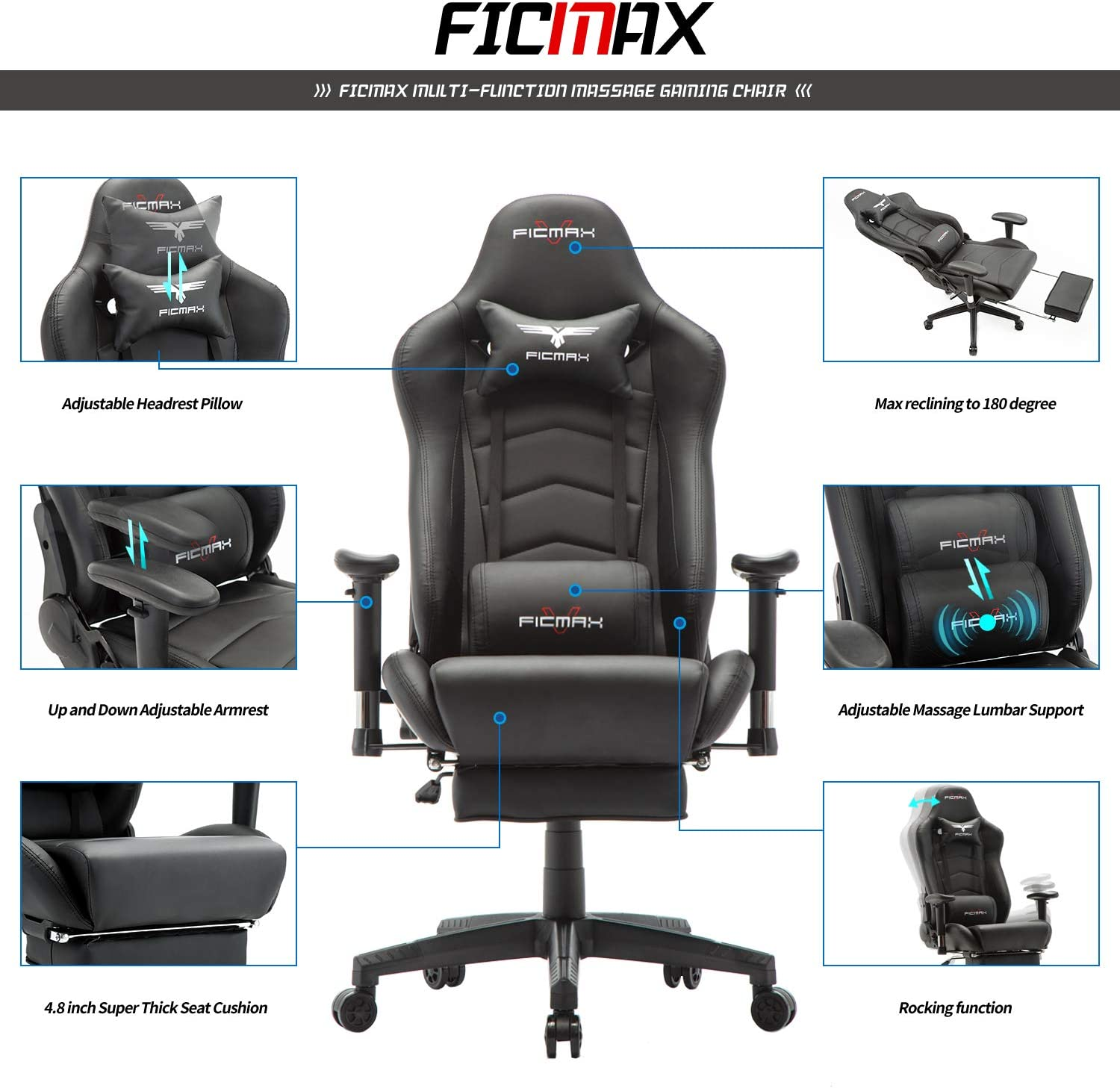 Ergonomic Ficmax Gaming Chair For Programmer