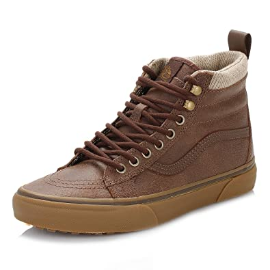 13873f77c9 Vans Mens Brown Herringbone SK8-Hi MTE Trainers  Amazon.co.uk  Shoes   Bags
