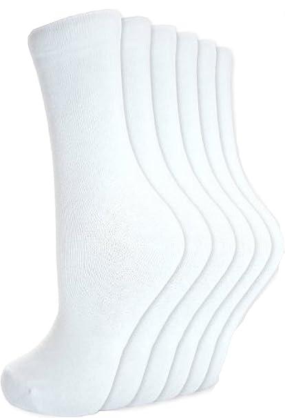 12 pares de calcetines de algodón con un poco de chicas jóvenes escolares de calcetines R1 (12 unidades): Amazon.es: Ropa y accesorios
